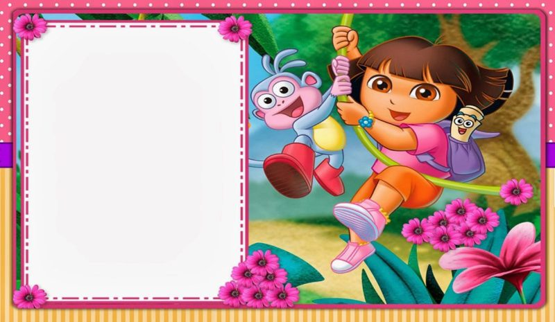 Free Printable Dora The Explorer Invitation Template