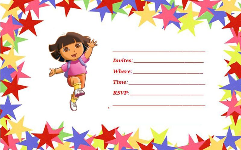 Dora Party Invitations create your own wedding invitations online – Printable Dora Birthday Invitations