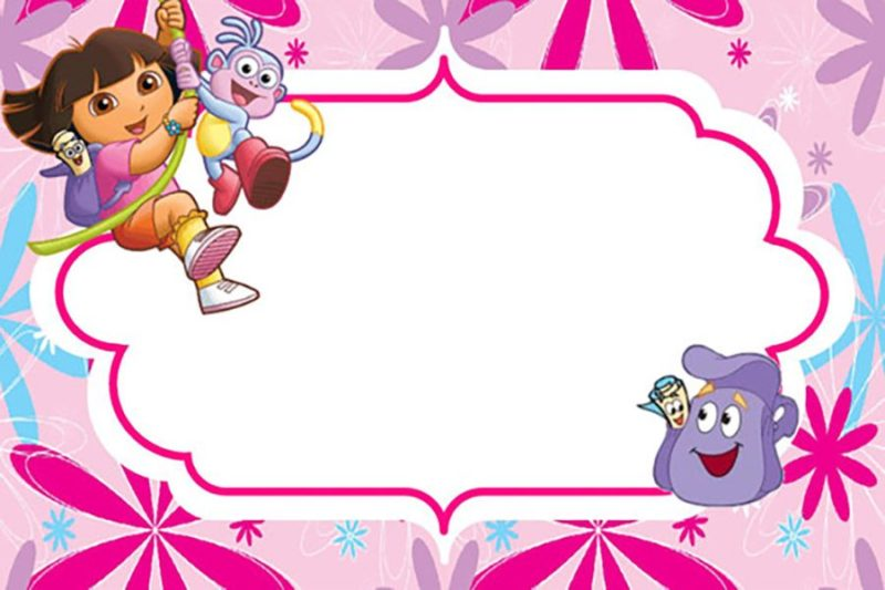 Printable Dora The Explorer Invitation Card
