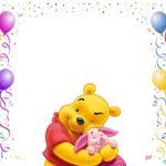 Winnie The Pooh Invitation Template 150x150