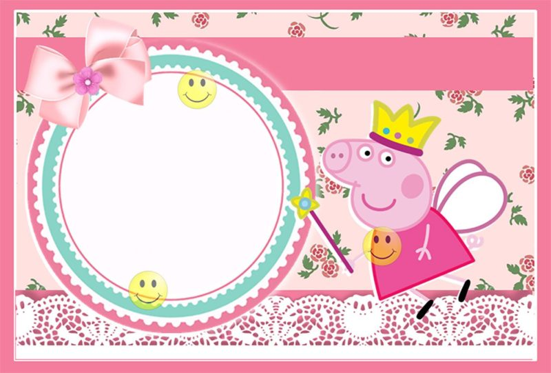 Adorable Peppa Pig Free Template