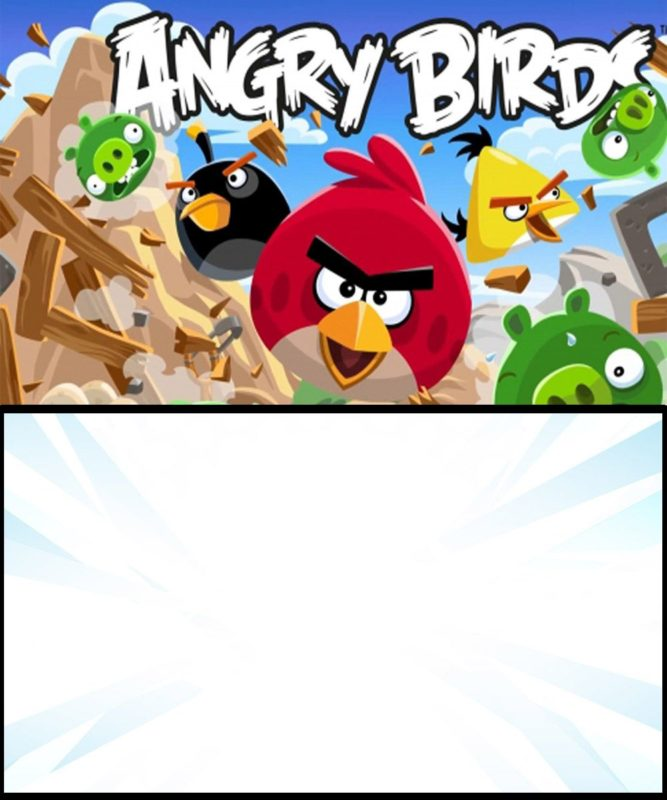 Angry Birds Initation Card