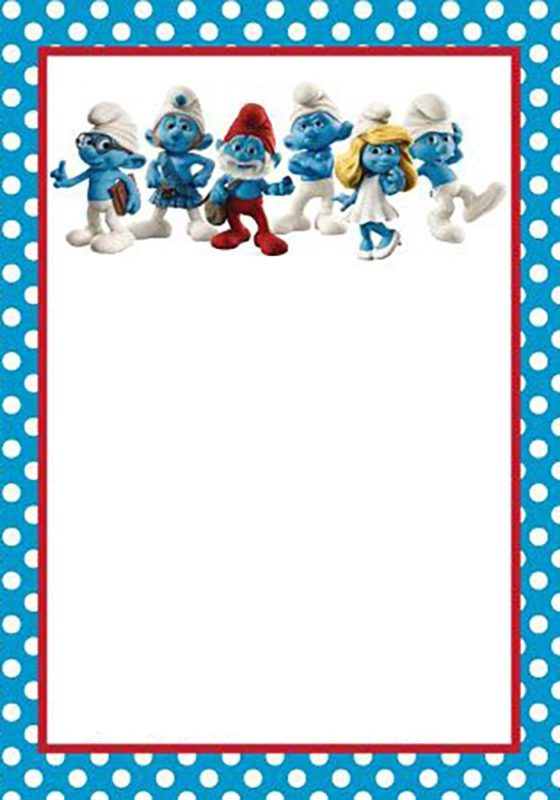 Birthday Smurf Invitation
