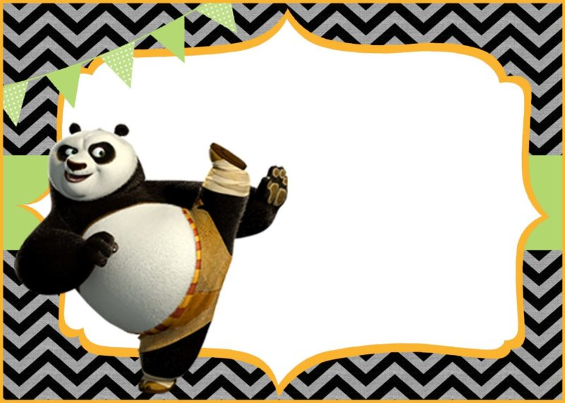 cute kung fu panda free printable template - Free Printable Cartoon Templates
