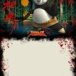 Dark Kung Fu Panda Invitation Template