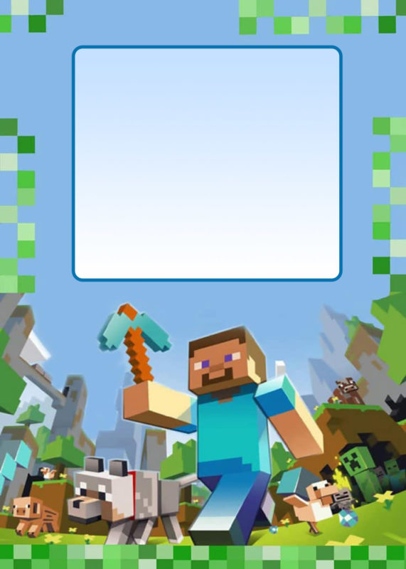 Party At Ease With Minecraft Invitations Free Invitation Templates