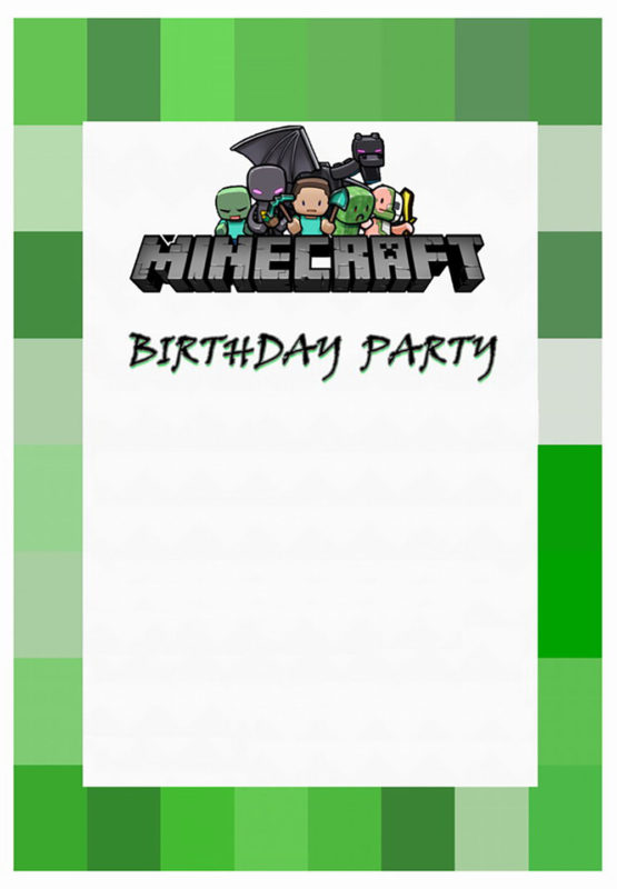 image regarding Minecraft Birthday Invitations Printable known as Bash at Advantage with Minecraft Invites Absolutely free Invitation