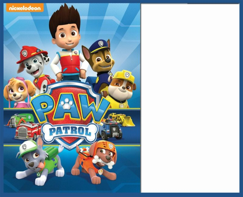 Free Paw Patrol Invitation Template