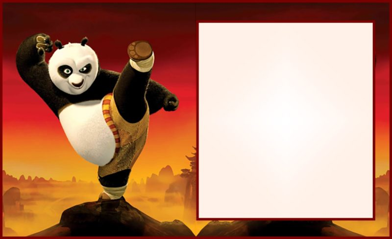Free Printable Invitation Kung Fu Panda
