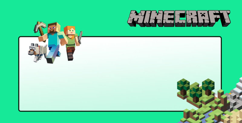 Free Printable Minecraft Invitation