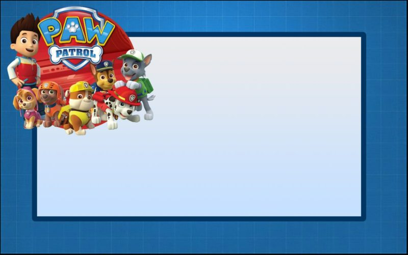 photo about Printable Paw Patrol Invitations named Paw Patrol Invites: Indeed Results Cost-free Invitation Templates