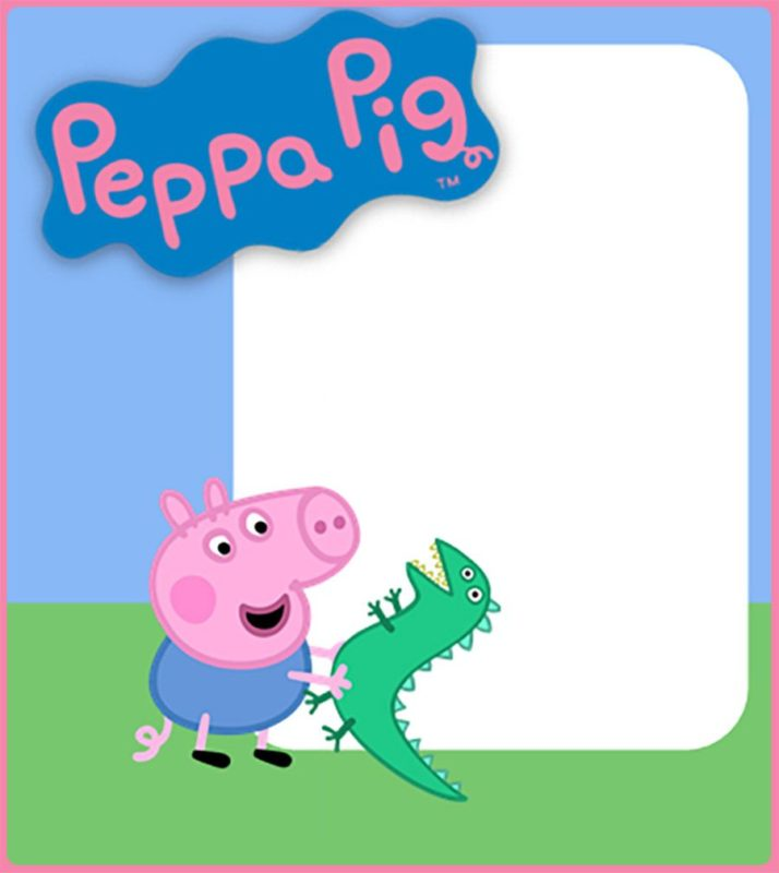 This is a picture of Sweet Peppa Pig Printable Invitations