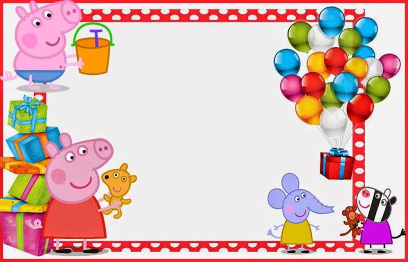 Free Printable Peppa Pig Party Invitation
