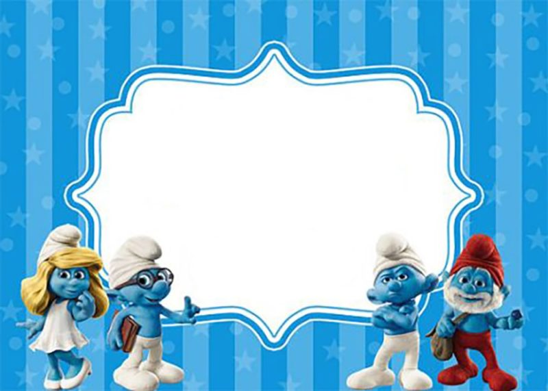 Free Printable Smurf Invitation