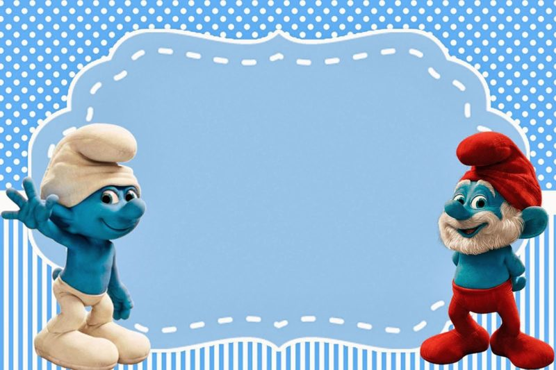 Free Printable Smurfs Invitation Template