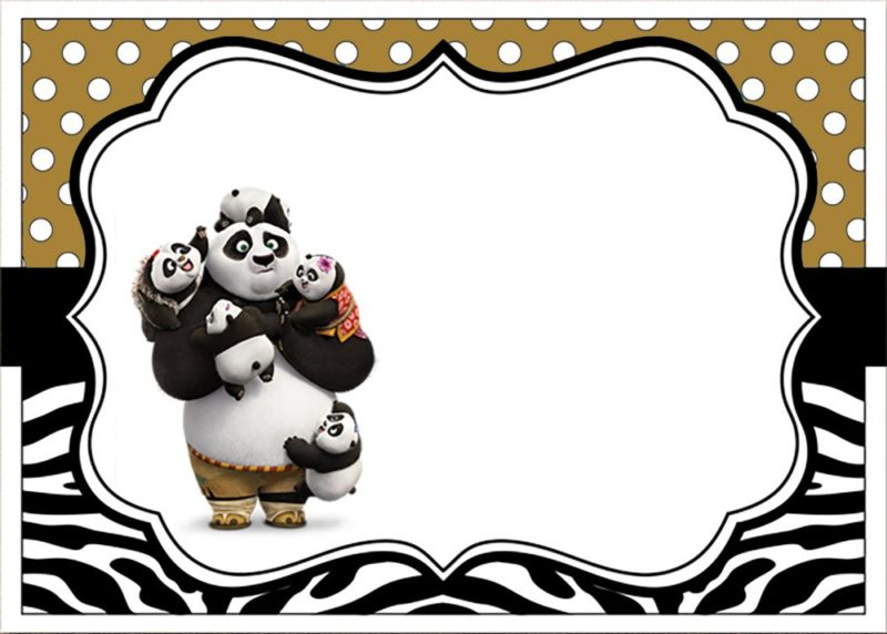 Kung Fu Panda Invitations