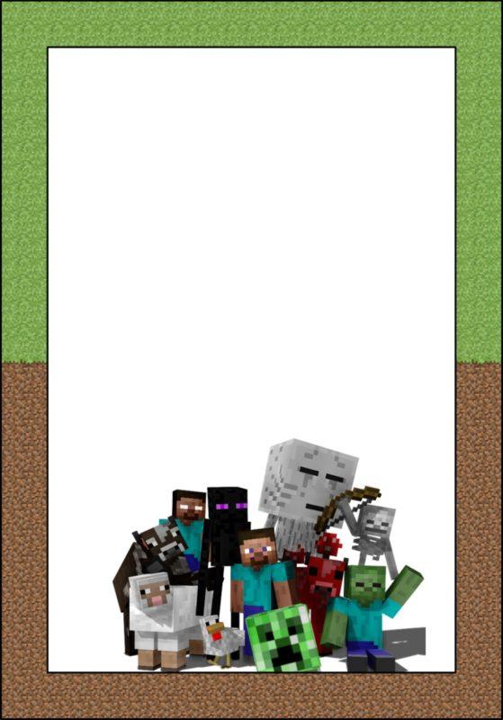 Minecraft Invitation Template Free Printable Invitation Templates