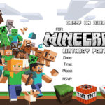 Minecraft Printable Invitation Card 150x150