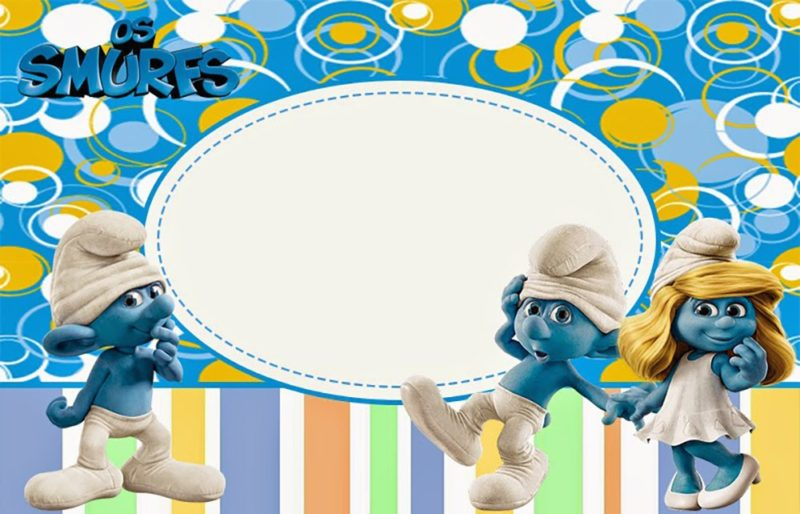 Party Smurf Invitation
