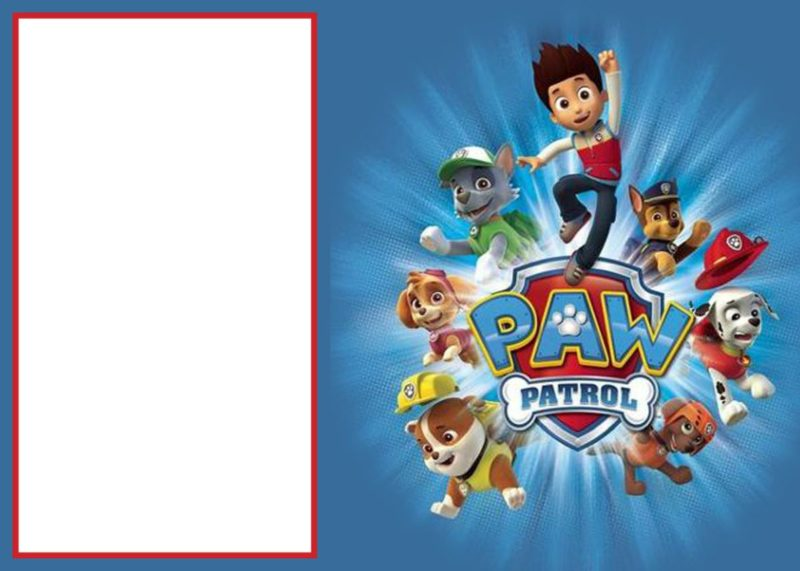 Paw Patrol Free Invitation Template
