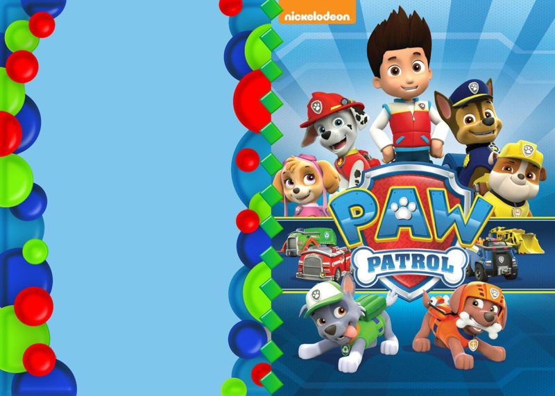 Paw Patrol Invitation template
