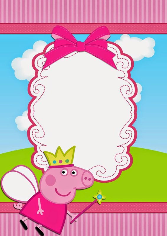 Peppa Pig Birthday Party Invitation
