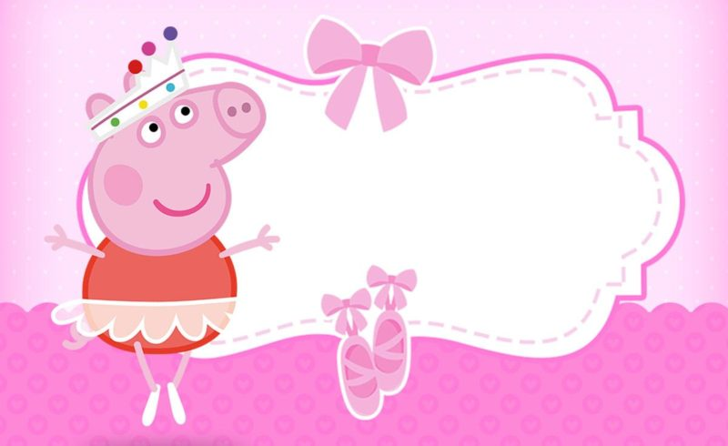 Peppa Pig Free Invitation