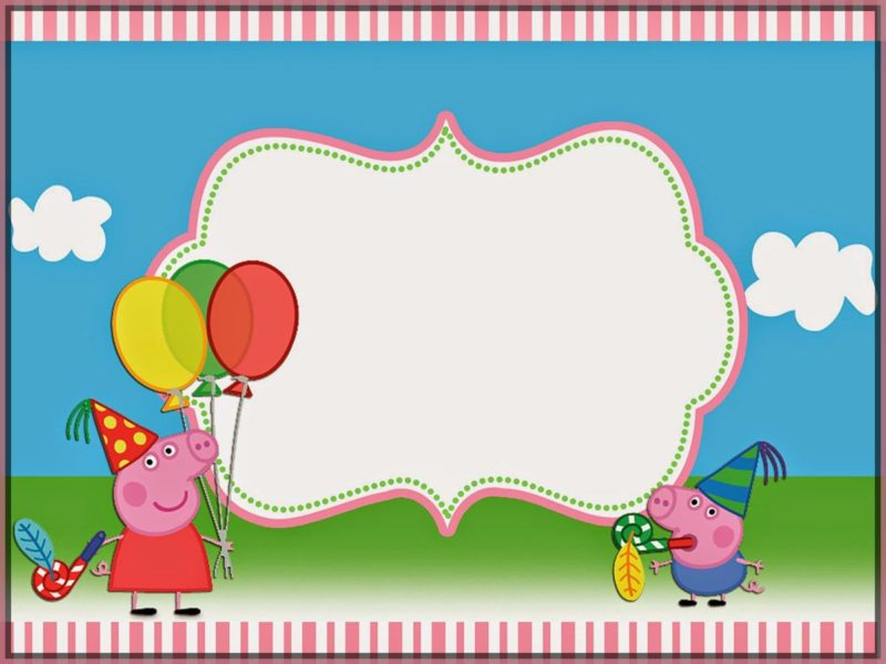 Peppa Pig Invitation Template Free