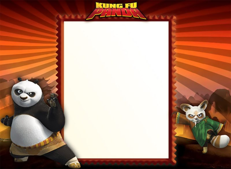 Printable Kung Fu Panda Invitation Template