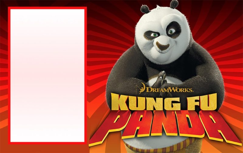 Printable Kung Fu Panda Invitation