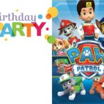 Printable Paw Patrol Birthday Invitation 150x150