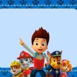 Printable Paw Patrol Invitation Card 150x150