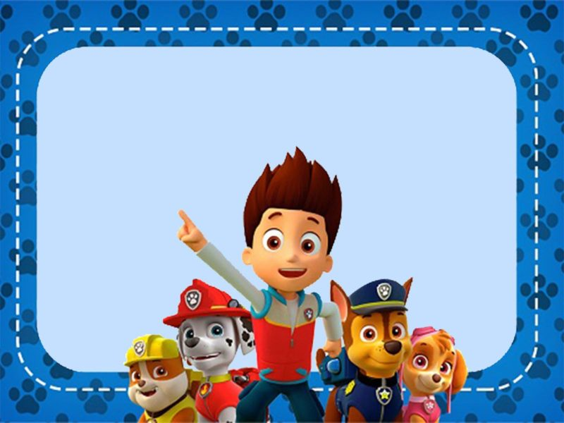 Printable Paw Patrol Invitation Card