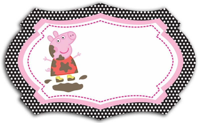 Printable Peppa Pig Invitation Card