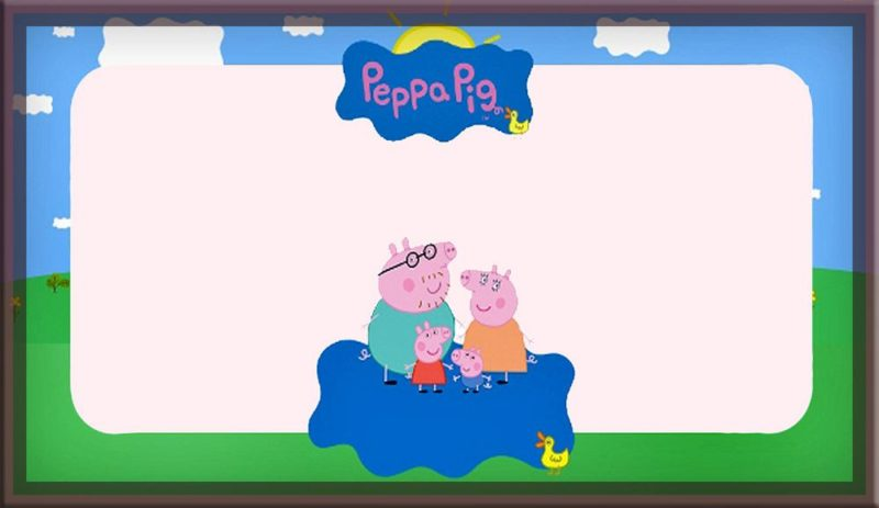 Printable Peppa Pig Party Invitation Card
