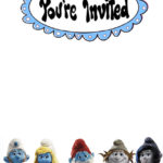 Smurf Invitations