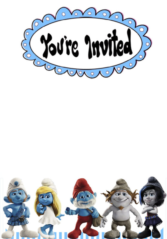 Smurf Invitations