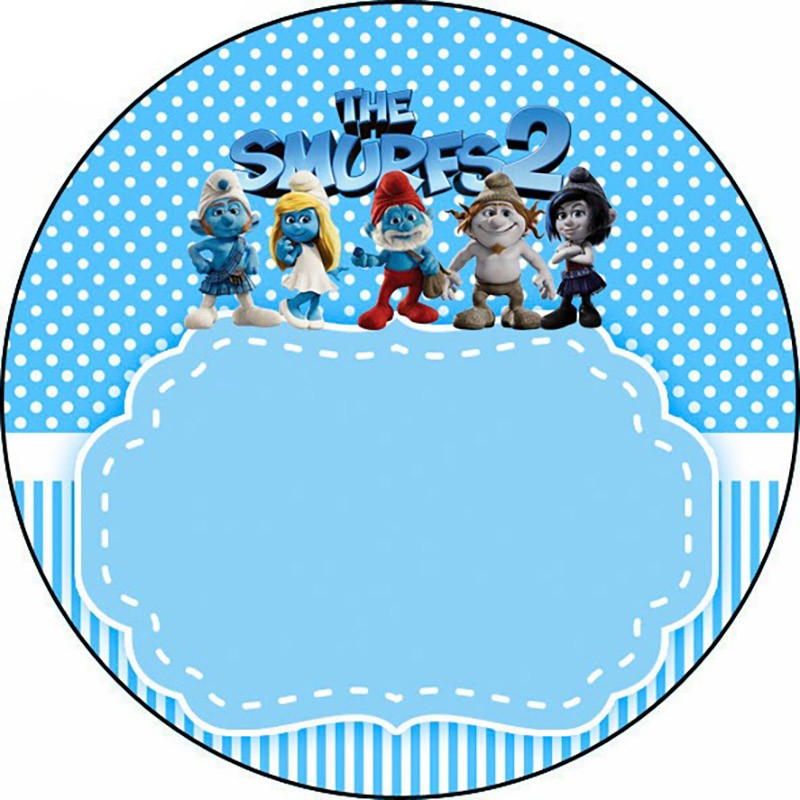 Smurfs 2 Birthday Party Invitation Template
