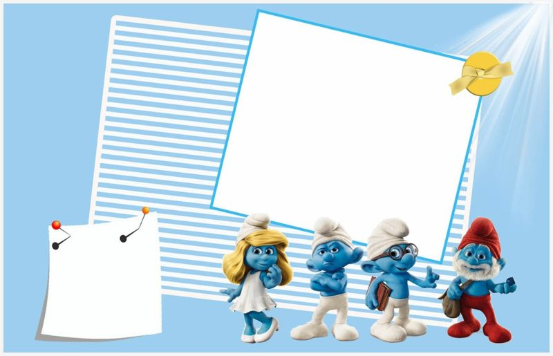Smurfs Birthday Party Invitation Template