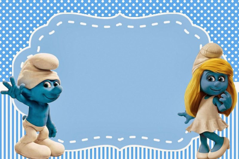Smurfs Free Printable Invitation Card