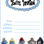 Smurfs Invitation