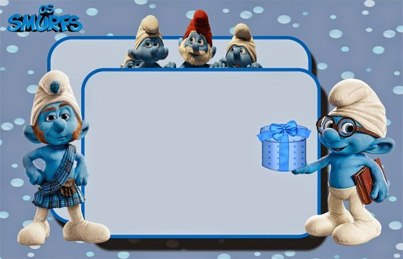 Smurfs Party Invitation Card