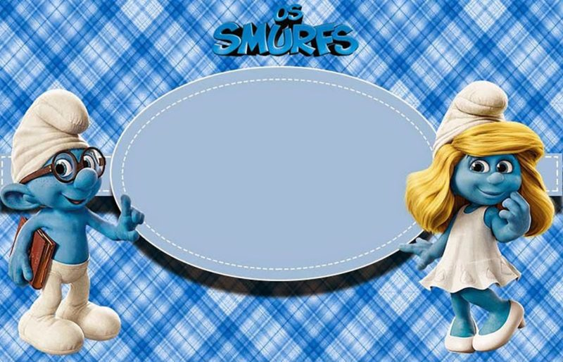 Smurfs Party Invitation Template