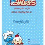 smurfs invitaton template 150x150