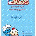smurfs invitaton template