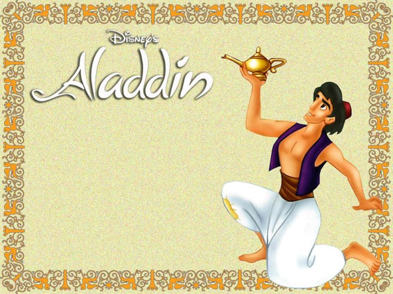 Aladdin Invitation Card