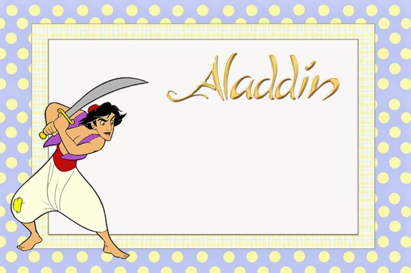Aladdin Invitations