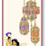 Aladdin & Jasmine invitation