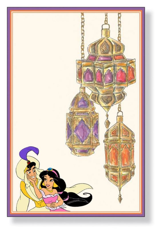 Aladdin Jasmine invitation