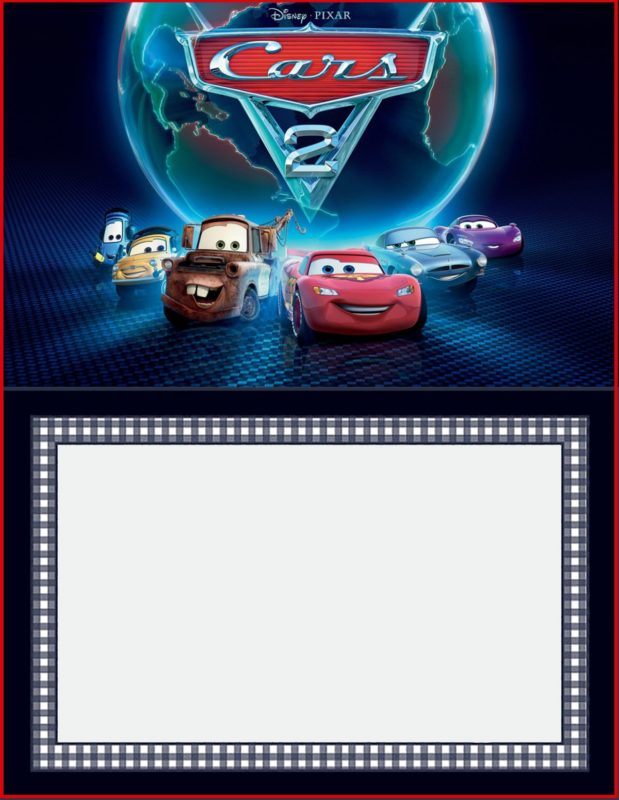 Cars 2 Free Invitation Template